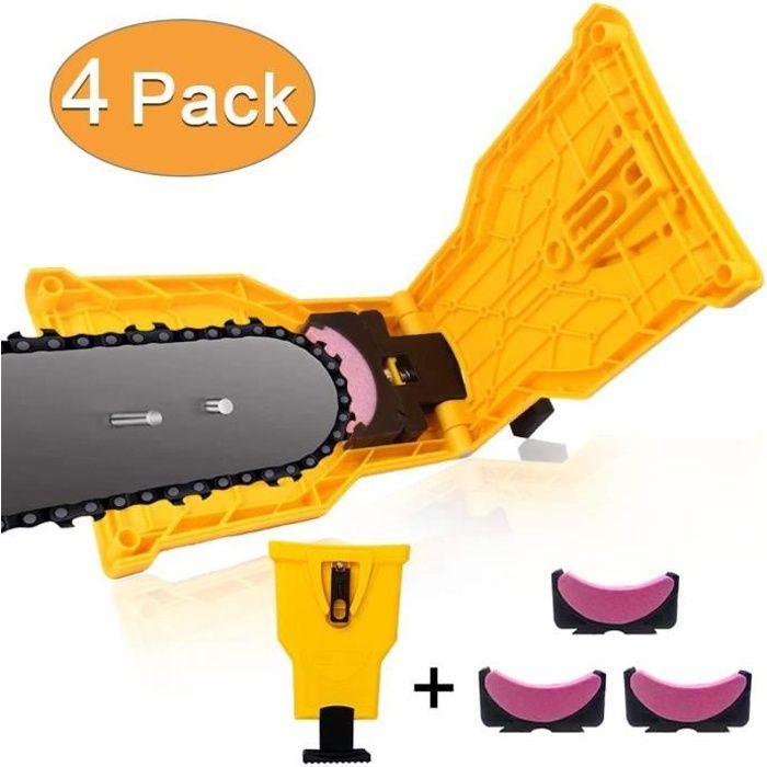 Stillcool® Affûteuse de tronçonneuse Aiguiser PR dents de lame de scie à chaîne portative avec 3 pierre à aiguiser