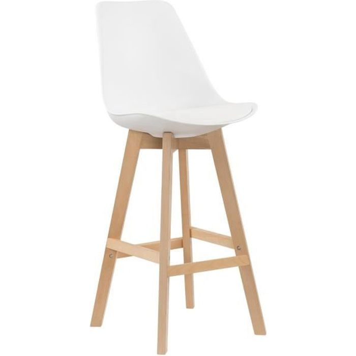 lot de 2 tabourets de bar scandinave blanc gala achat vente tabouret de bar blanc cdiscount. Black Bedroom Furniture Sets. Home Design Ideas