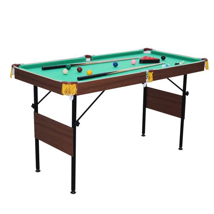 4 5 pieds table de billard jeu billes de snooker et billes jaunes inclus vert environ 140x68. Black Bedroom Furniture Sets. Home Design Ideas