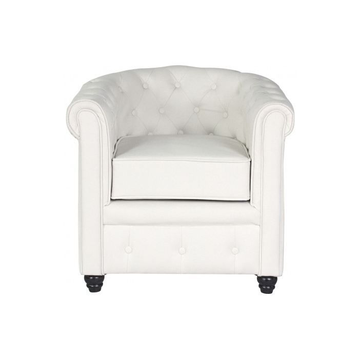 fauteuil chesterfield blanc fauteuil club capitonn blanc chesterfield maisons du monde. Black Bedroom Furniture Sets. Home Design Ideas