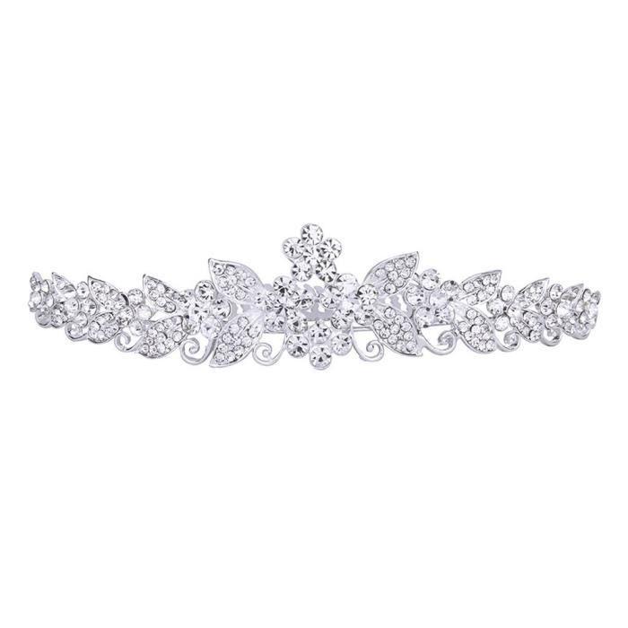 Strass mariée bandeau strass head piece band crystal tiara argent mariage