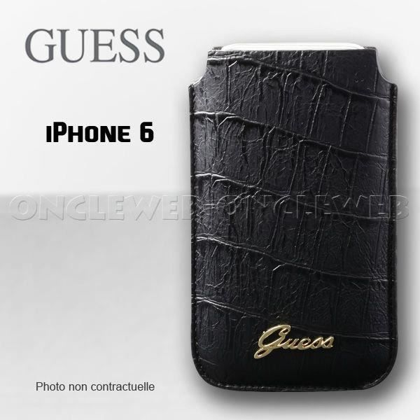 housse iphone 6 6s guess croco noir achat housse tui