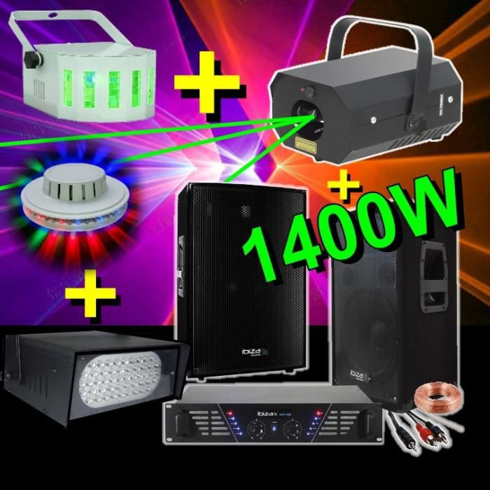 pack sono light led 1400w 4 jeux de lumi re pack sono. Black Bedroom Furniture Sets. Home Design Ideas