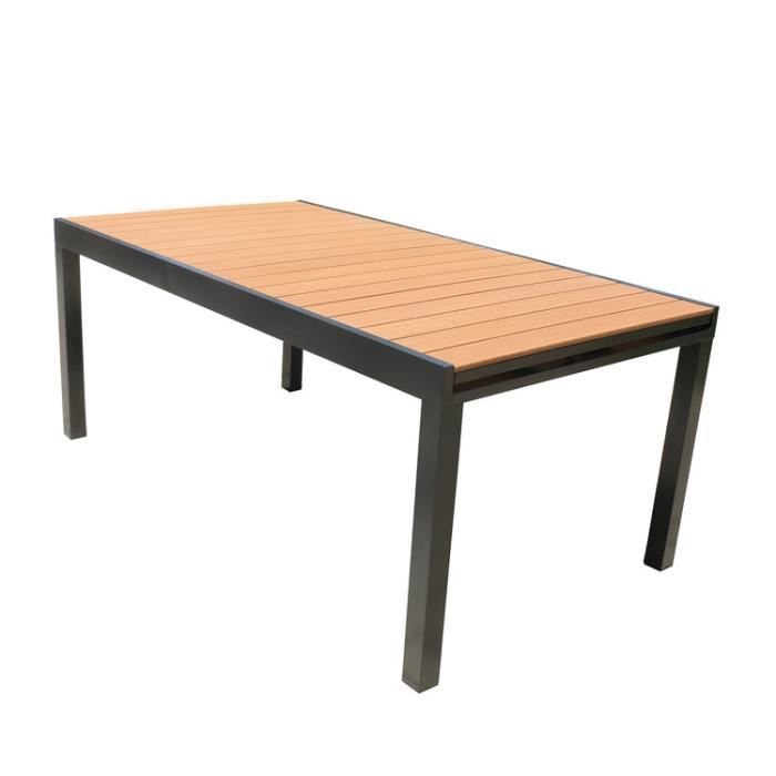 Table De Jardin Extensible En Aluminium Et Composite 180 280x100
