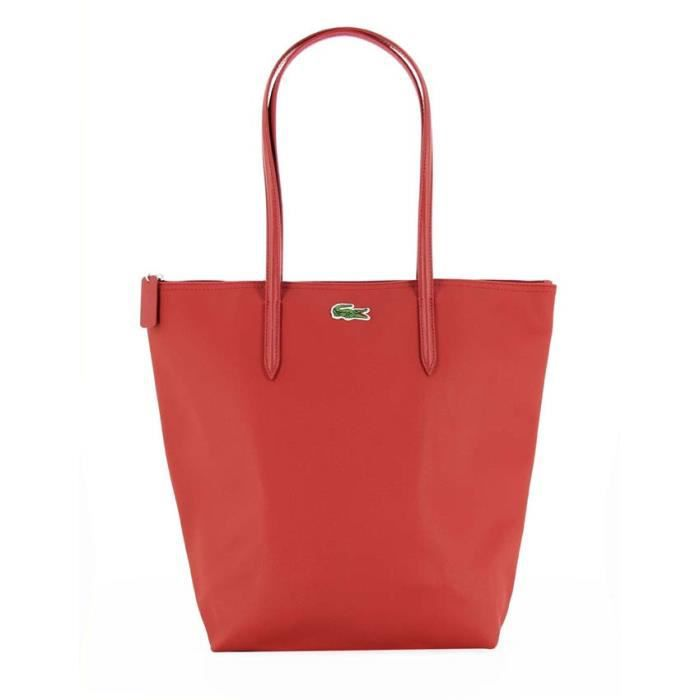 lacoste sac cabas l nf0647po rouge achat vente sac shopping 2009947445750 cdiscount. Black Bedroom Furniture Sets. Home Design Ideas