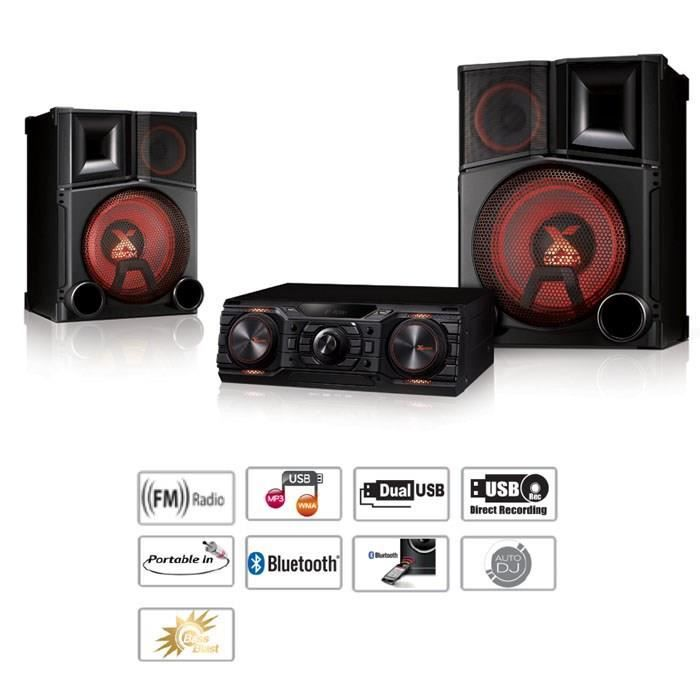 lg cm9750 cha ne hifi bluetooth dj 3000w chaine hi fi avis et prix pas cher cdiscount. Black Bedroom Furniture Sets. Home Design Ideas
