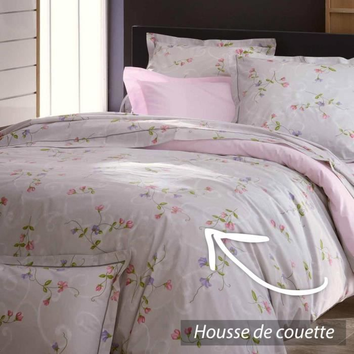 housse de couette 280x240 cm percale pur coton senteur achat vente housse de couette cdiscount. Black Bedroom Furniture Sets. Home Design Ideas