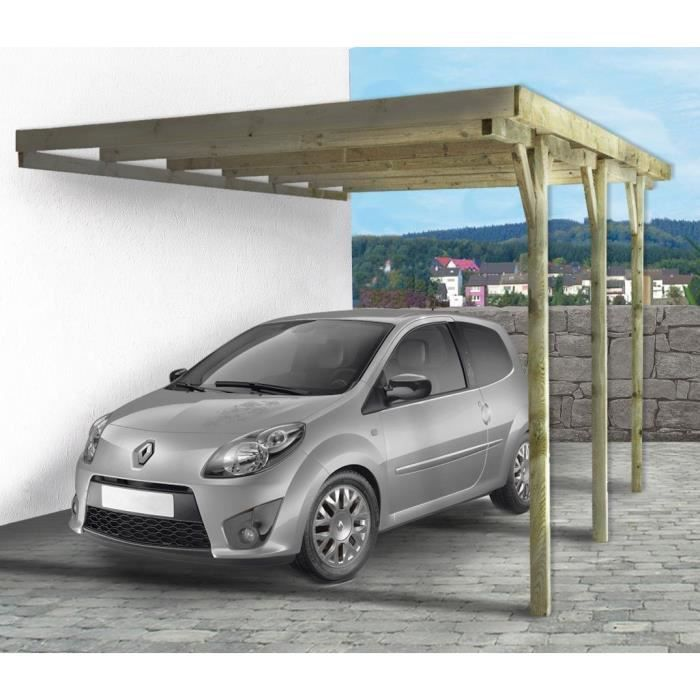 carport voiture adossant gus m x x 2. Black Bedroom Furniture Sets. Home Design Ideas