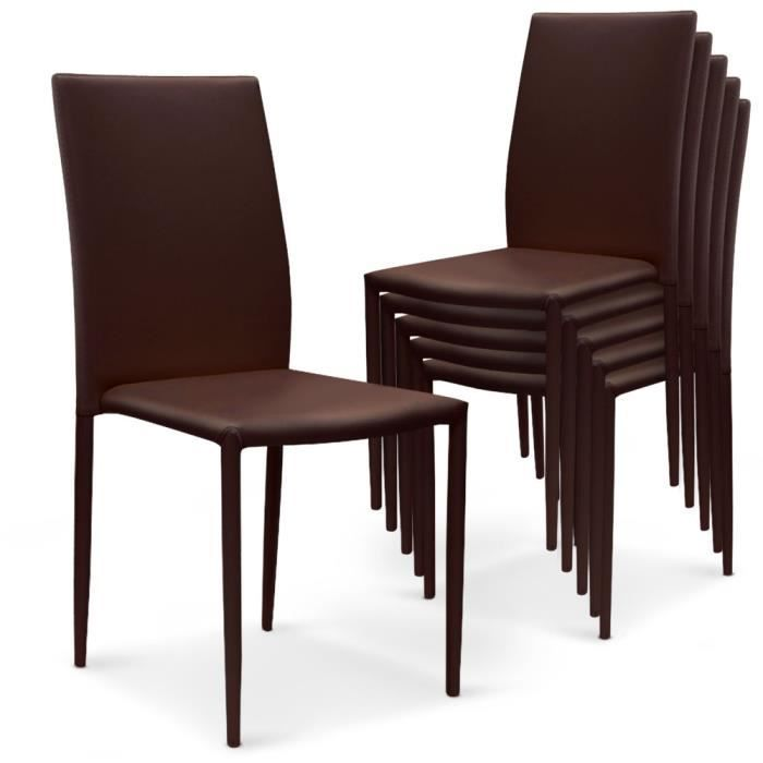 Lot de 30 chaises empilables modan pu marron achat for Chaises empilables