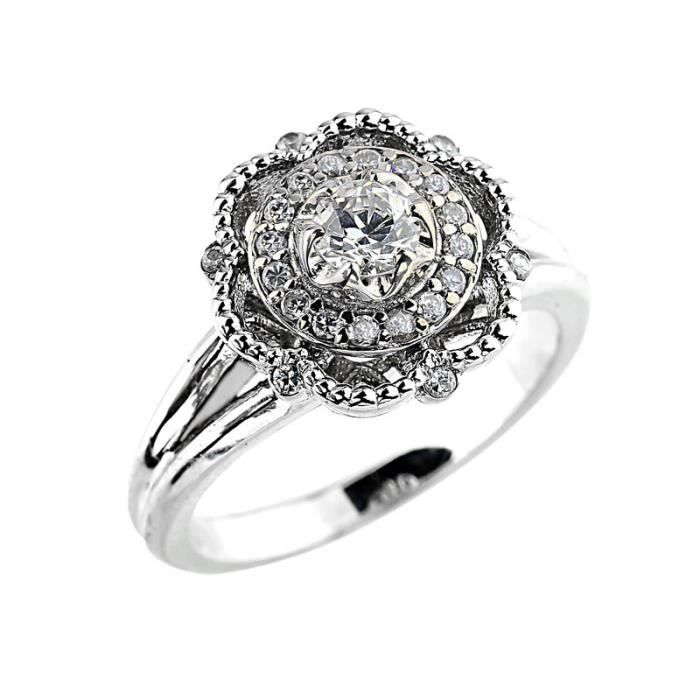 Bague Femme 14 ct Or 585/1000 Diamant