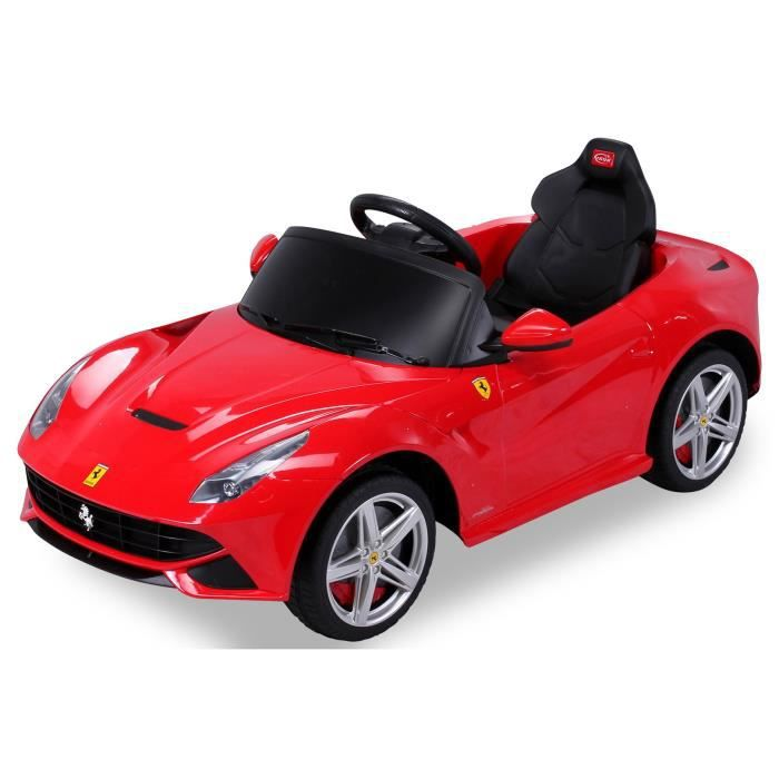 mini voiture lectrique pour enfants ferrari f12 rouge. Black Bedroom Furniture Sets. Home Design Ideas