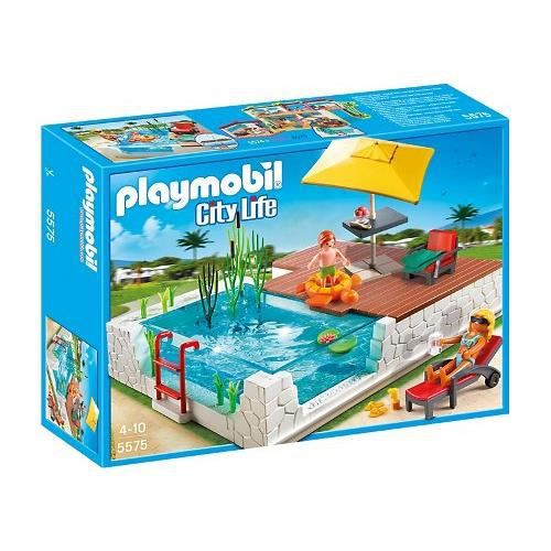 playmobil 5575 deluxe piscine achat vente assemblage construction cdiscount. Black Bedroom Furniture Sets. Home Design Ideas
