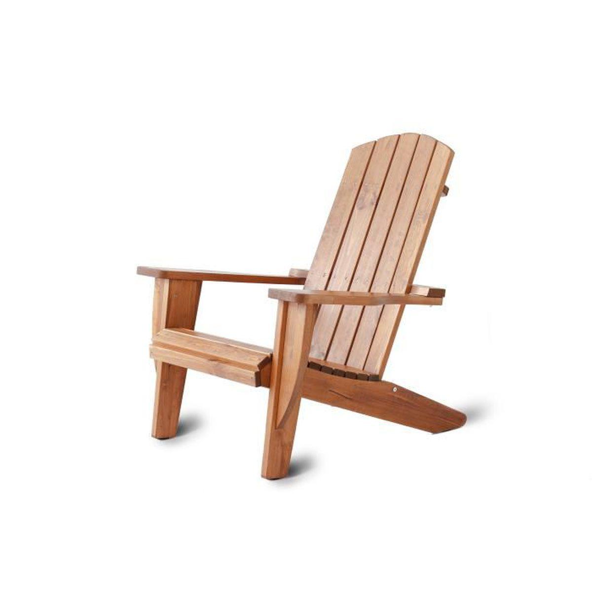 Coussin Pour Fauteuil Adirondack fauteuil de jardin adirondack ottawa en pin massif, ton