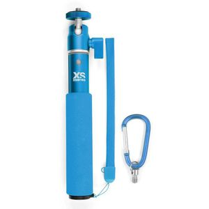 XSories - U-SHOT - Perche télescopique 18 ? 49 cm pour GoPro, appareil photo ou camera, en aluminium inoxydable, bleue
