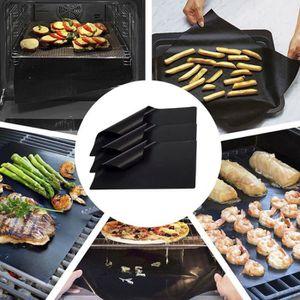 2 x Téflon Non-Stick réutilisables BBQ Tapis Feuille de Cuisson Tapis de cuisson barbecue