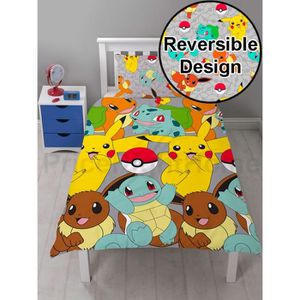 linge de lit pokemon achat vente linge de lit pokemon pas cher cdiscount. Black Bedroom Furniture Sets. Home Design Ideas