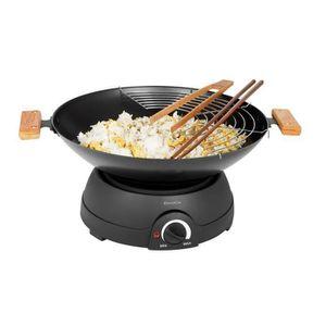 WOK - TAJINE AUTO Wok électrique et fondue 1600W Noir