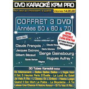 DVD MUSICAL Coffret 3 DVD Karaoké KPM Promo
