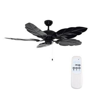 VENTILATEUR DE PLAFOND Ventilateur de Plafond de 132 cm Fini Dans Noir br