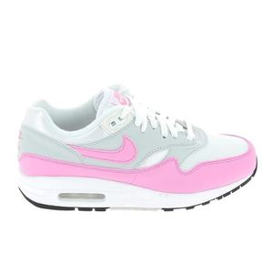BASKET Basket -mode - Sneakers NIKE Air Max 1 Ess Blanc R