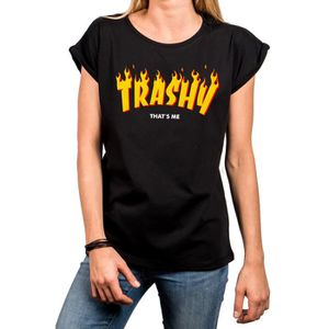 T-SHIRT Makaya Message Tee Shirt avec Inscription Rigolote