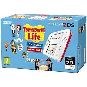 CONSOLE 2DS Pack Console 2DS Blanche + Jeu Tomodachi Life Pré