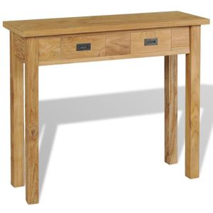 TABLE BASSE Table console Teck massif 90 x 30 x 80 cm