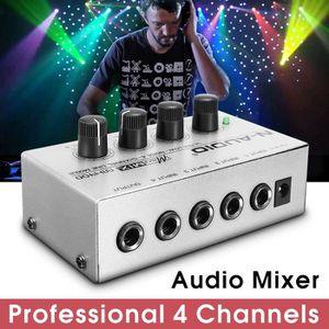 TABLE DE MIXAGE TOPTW Mono Table de Mixage DJ 4 Canaux Ultra-compa