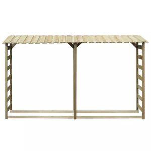 ABRI JARDIN - CHALET Abri de bois de chauffage 300 x 44 x 176cm Pinède