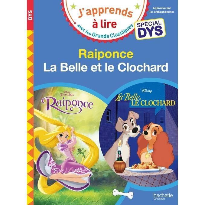 Livre 6-9 ANS Raiponce ; La Belle et le clochard [ADAPTE AUX DYS