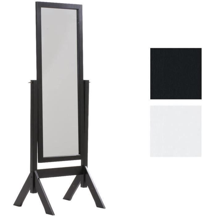 CLP Miroir sur Pied Elvis avec Ca e en Bois Miroir sur Pied pour Chambre Design Rustique Miroir Inclinable avec Une Hauteur 13