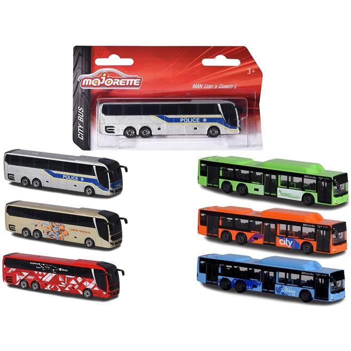 Majorette 212053159 City Bus - Jouet Voiture avec Roue Libre et Suspensions - Carrosserie Métal - 13 cm - pour Les Enfants à par,29