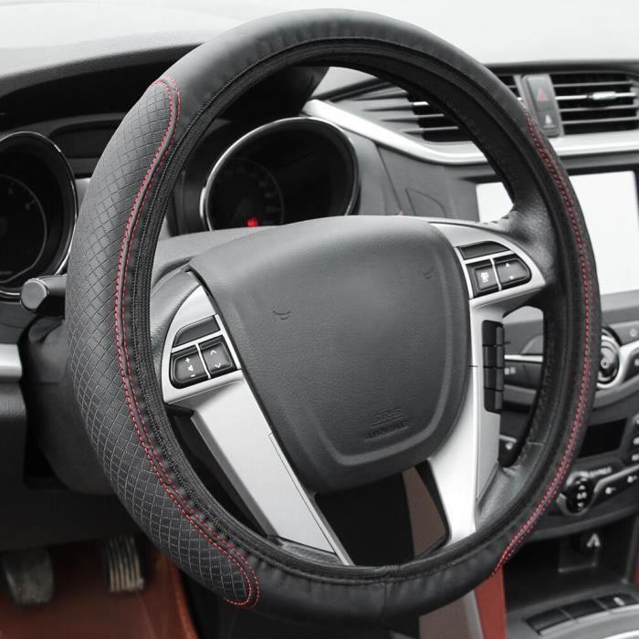 Couvre volant,Couvercle de volant de voiture, accessoires pour Peugeot 3008 206 208 408 2008 308 508, citroën C4 C5 - Type Red Line