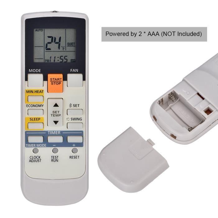 Télécommande de Remplacement pour Fujitsu AR-RAH1E AR-RAH2E Climatiseur, AC Remote Control avec Ecran LCD