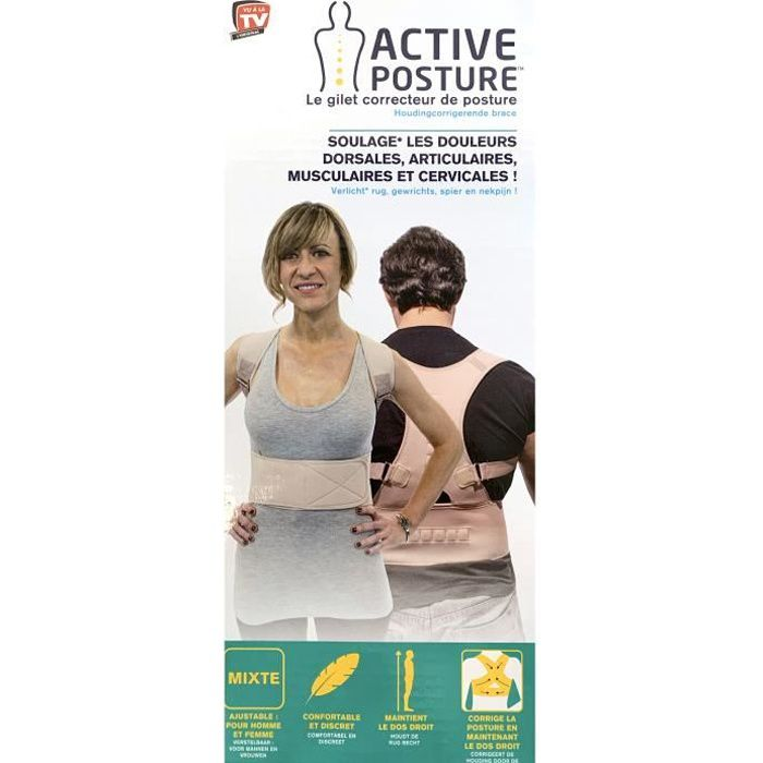2 x Active Posture - Le gilet corrector de posture