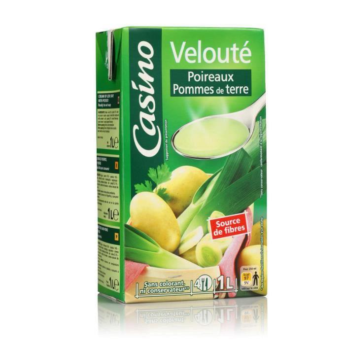 CASINO Velouté poireaux pommes de terre - 1 L