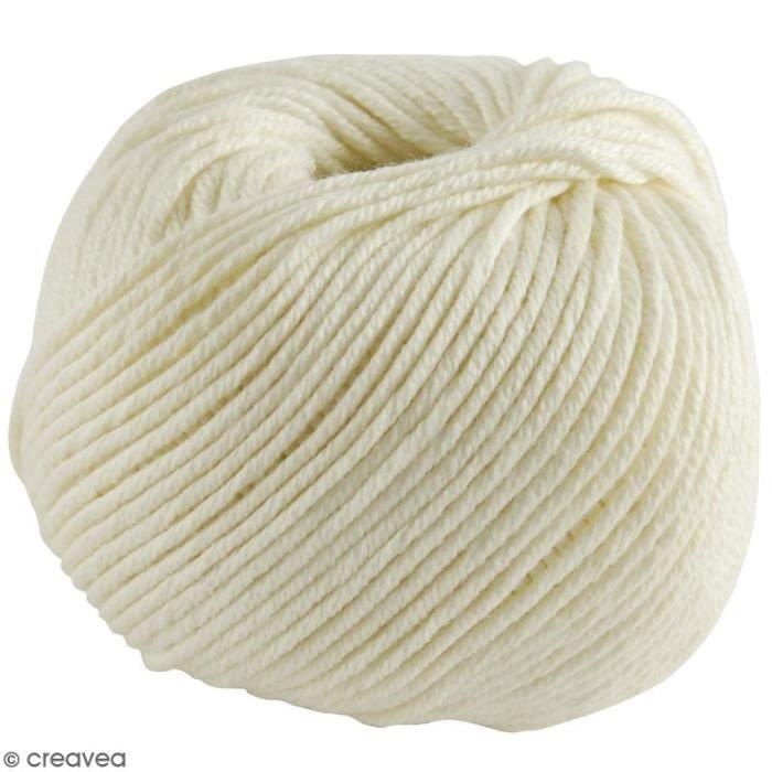Fil DMC Natura Medium - 32 coloris - 50 g Blanc Vanille N° 03