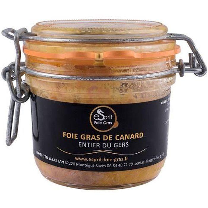 ESPRIT FOIE GRAS Foie gras de canard entier du Gers - 180 grs - 180g - 0001