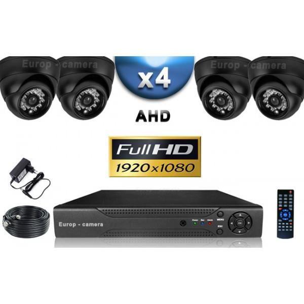 KIT PRO AHD 4 Caméras Dômes IR 20m SONY FULL HD 1080P + Enregistreur DVR AHD FUL