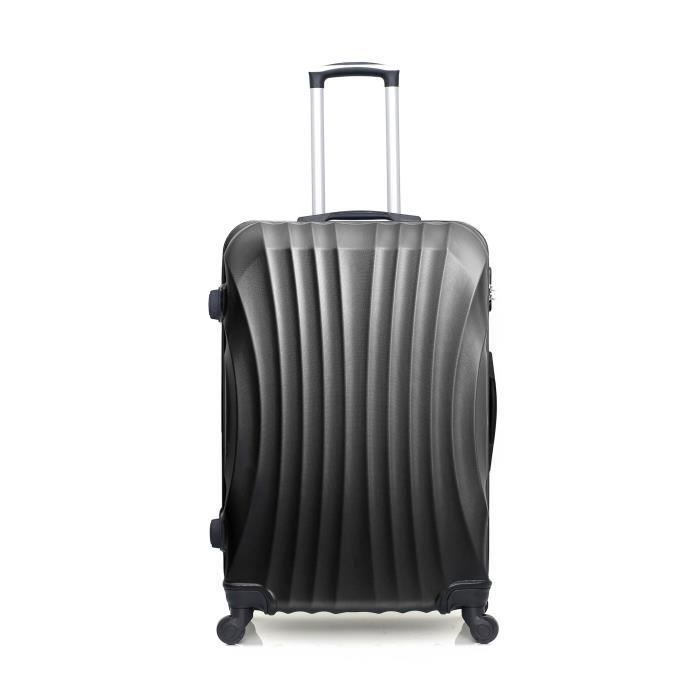 HERO – VALISE GRAND FORMAT - ABS – 70cm – 4 roues – MOSCOU-A – NOIR