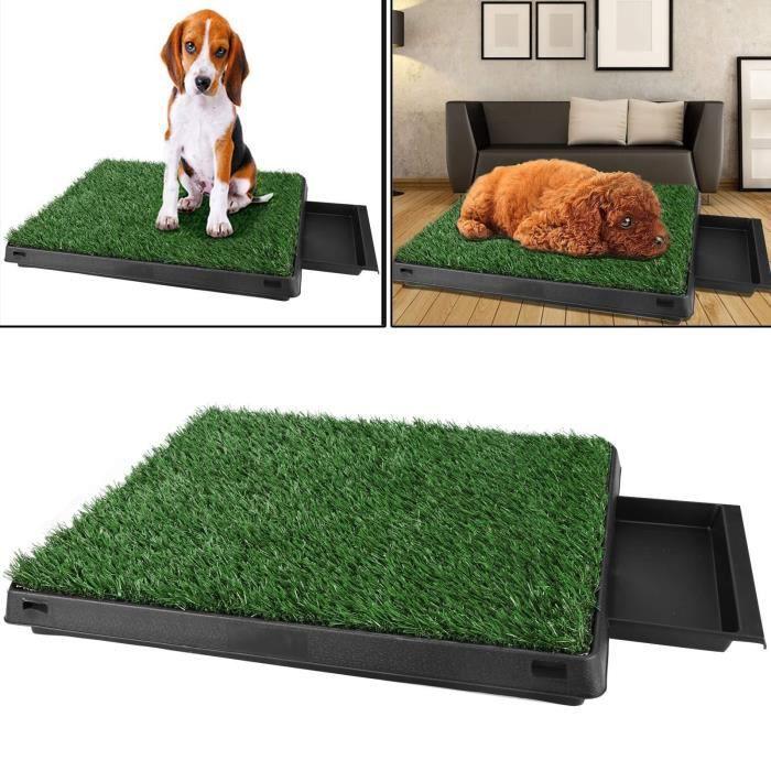 HOMDOX Toilettes Portables pour Chiens Animaux pet Domestiques Grille plateau Domestiques Tapis d'herbe
