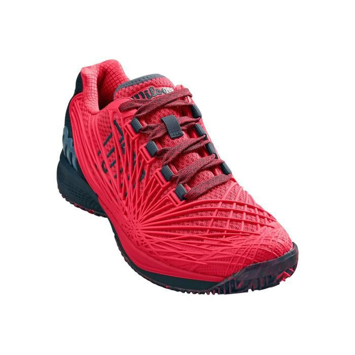 Chaussures WILSON Femme Kaos 2.0 Clay Rose Framboise / Anthracite PE 2019