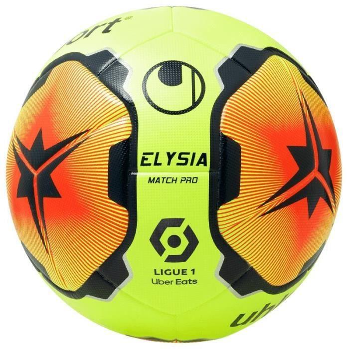 Ballon Uhlsport Elysia match pro - jaune paille/rouge paille/bleu marine - Taille 5