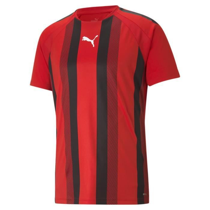 Maillot Puma Team Liga Striped - rouge/noir/blanc - XS