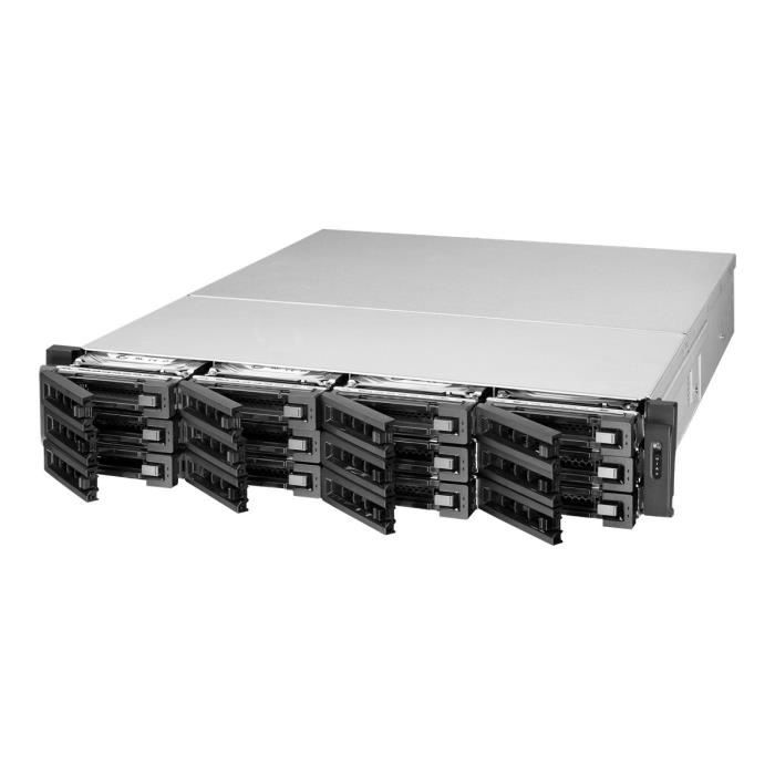 QNAP TVS-EC1280U-SAS-RP - Serveur NAS - 12 Baies - rack-montable - SATA 6Gb-s - SAS 12Gb-s