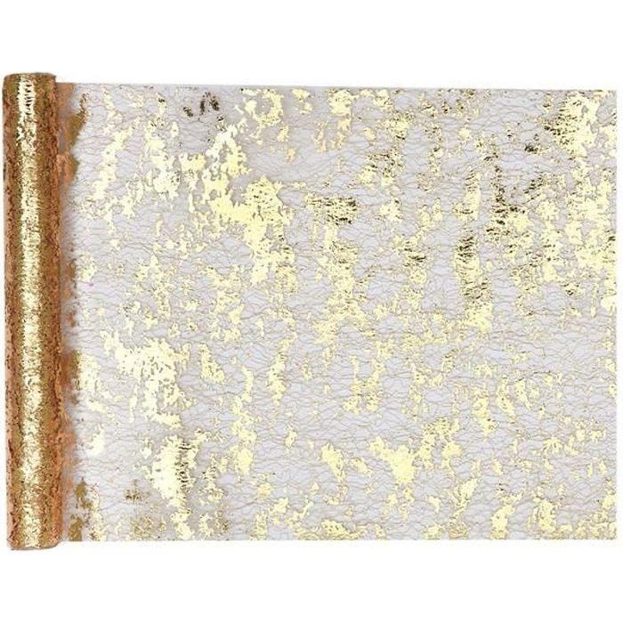 Chemin de table Noël doré chic pour votre décoration 28cm x 5m (x1) R/4721