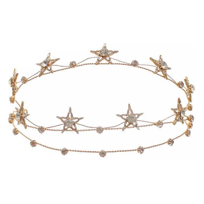 1 pc étoile cheveux cerceau cristal mariage élégant délicat alliage coiffure chapeaux HEADBAND - HEADBAND - HEADBAND - HAIRBAND