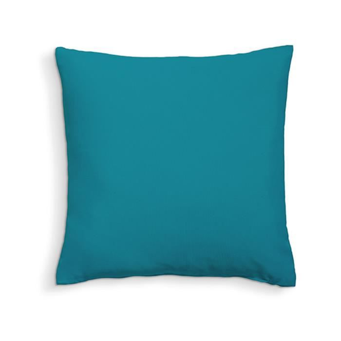 TODAY Coussin déhoussable 100% coton - 60 x 60 cm - Mer du Sud