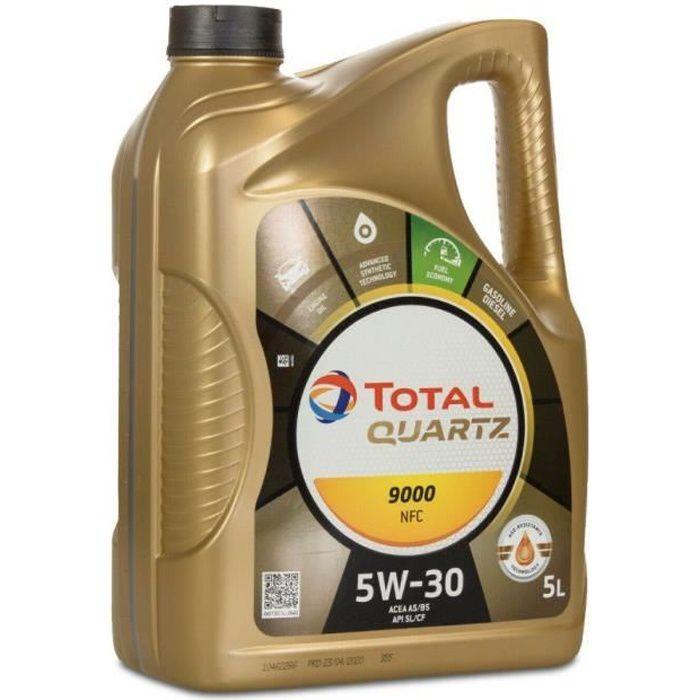 Huile Synthese Total Quartz 5w30 9000 NFC 5 litres