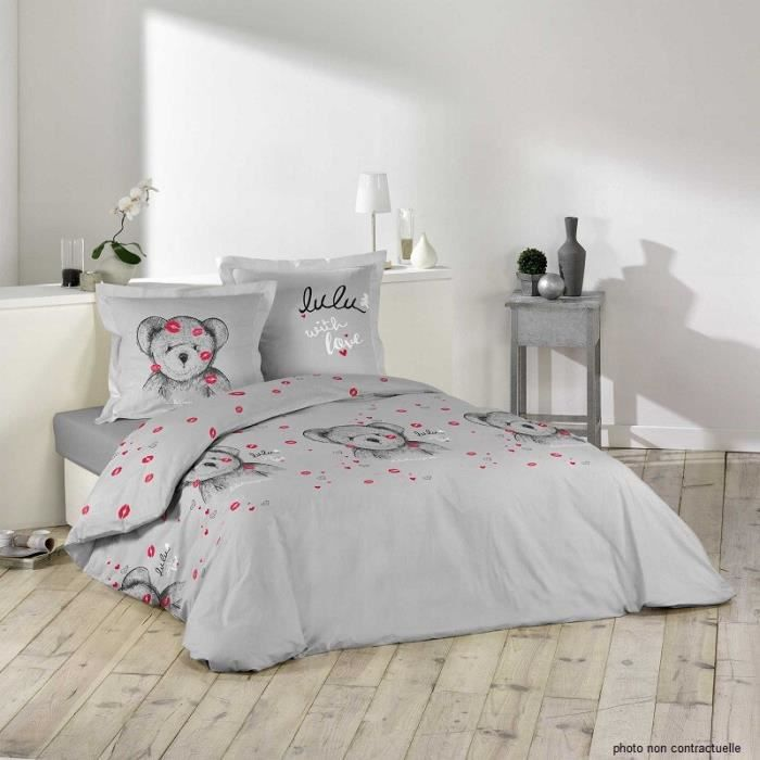 housse de couette lulu castagnette achat vente housse. Black Bedroom Furniture Sets. Home Design Ideas